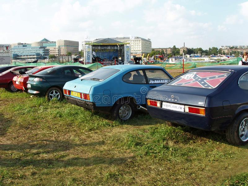 莫斯科,俄罗斯- 2008年7月15日:福特卡普里岛GT陈列` Autoexotic 2008年` 免版税图库摄影