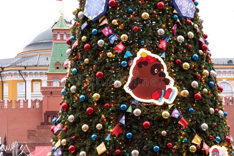 莫斯科,俄罗斯- 2018年11月24日:胶的新年和圣诞装饰在莫斯科,俄罗斯 库存图片