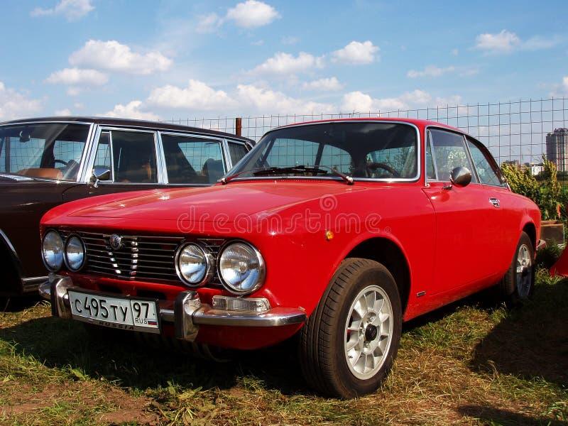 莫斯科,俄罗斯- 2008年7月15日:阿尔法・罗密欧1750 GT Veloce - 1969年陈列` Autoexotic 2008年` 图库摄影