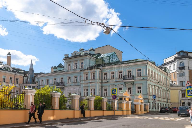 莫斯科,俄罗斯- 5月4 2019? 图书馆以屠格涅夫命名的阅览室 免版税图库摄影