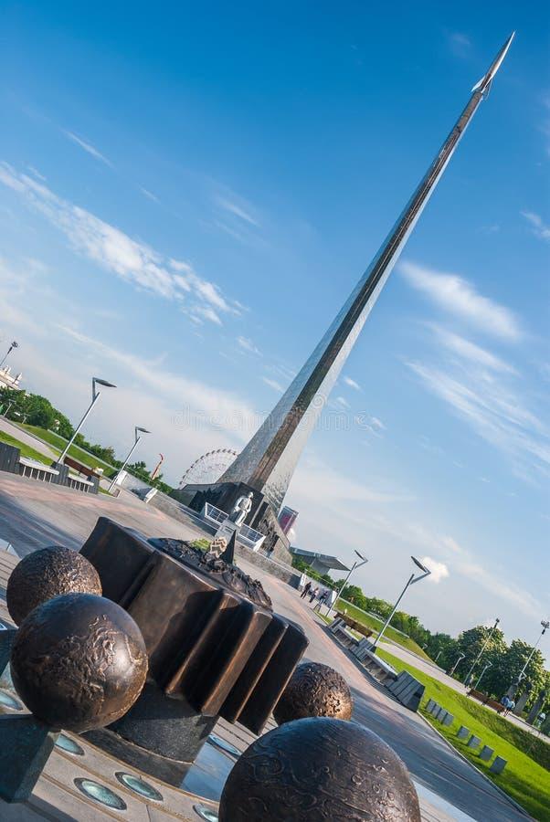 莫斯科,俄罗斯- 2009年5月20日:对空间的征服者的纪念碑 库存图片