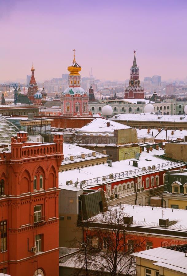 莫斯科,俄罗斯-镇全视图,克里姆林宫的看法 免版税图库摄影