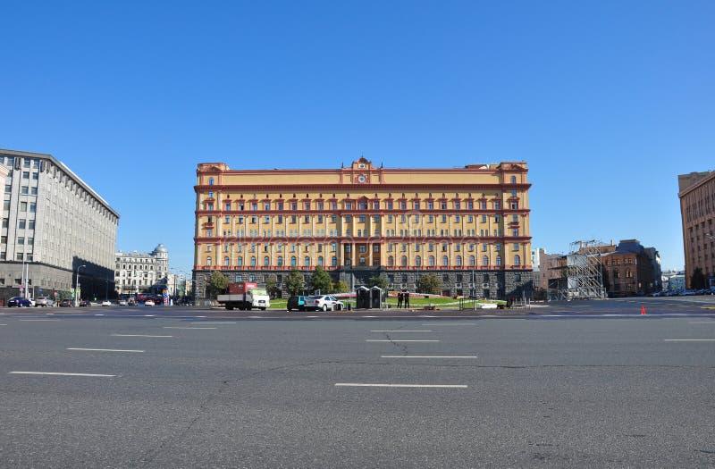 莫斯科,俄罗斯- 21 09 2015年 fsb lubyanka莫斯科俄国广场 俄罗斯的FSB的大厦 免版税库存照片