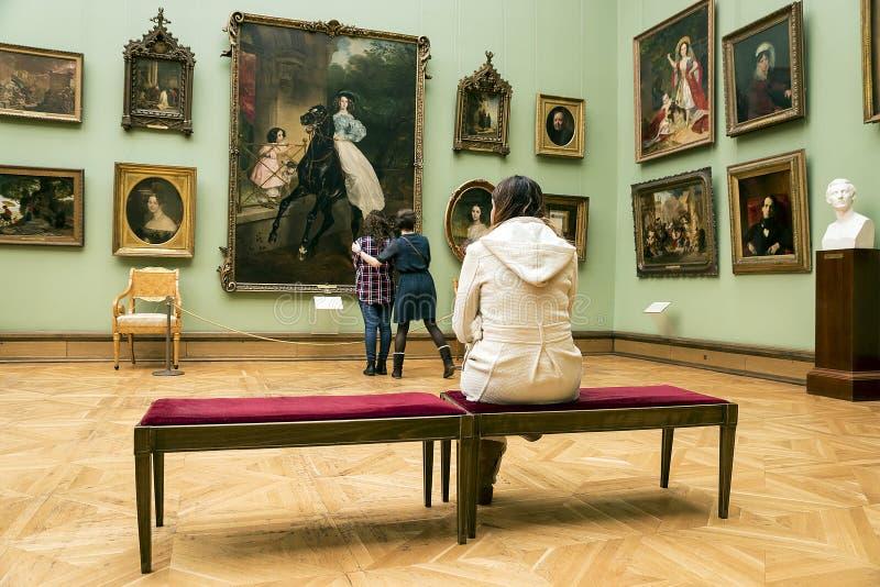 莫斯科, RUSSIA-MARCH 1 :状态特列季尤欣美术画廊在Mosco 库存图片