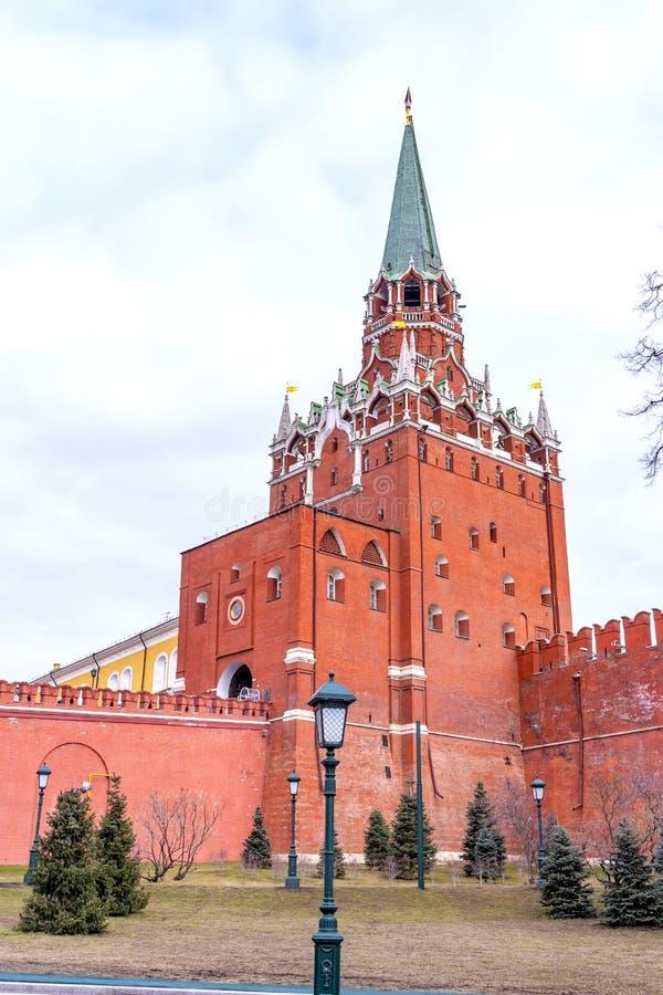 莫斯科 克里姆林宫 2012年照片塔troitskaya y 免版税库存图片