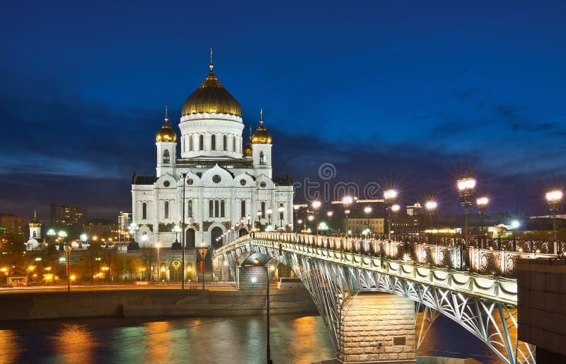 莫斯科 夜间 库存图片