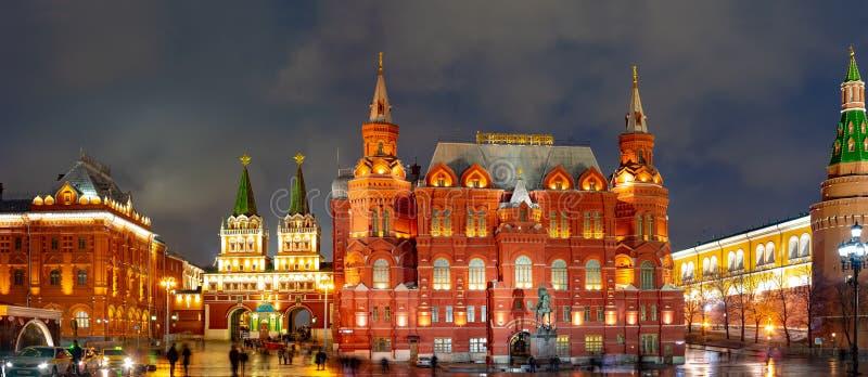 莫斯科 Manezhnaya广场莫斯科,状态历史博物馆 安排G的纪念碑 K zhukov 俄国 库存照片