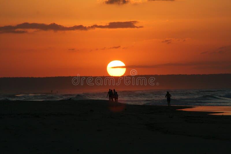 莫桑比克太阳集合 库存照片