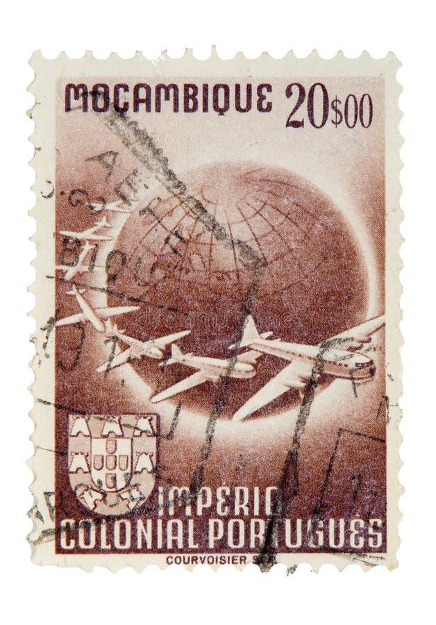 莫桑比克邮票葡萄酒 免版税库存照片