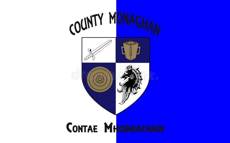 莫纳亨郡旗子是一个县在爱尔兰 免版税库存照片