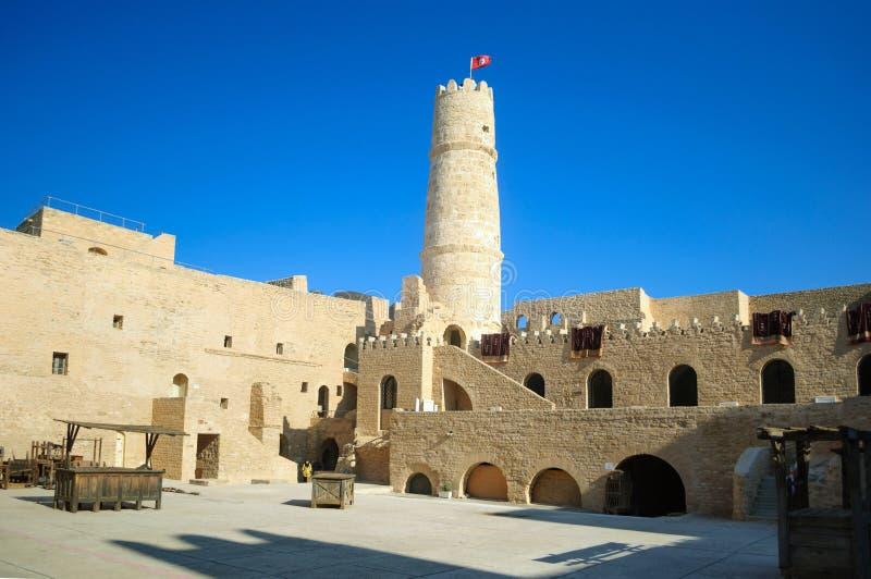 莫纳斯蒂尔的主要历史吸引力是堡垒里巴特Hartem,莫纳斯蒂尔 库存照片