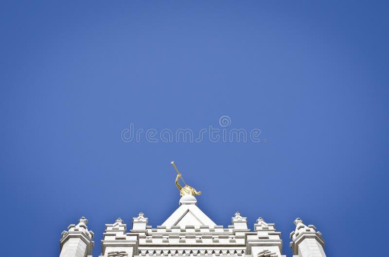 莫罗尼独奏在天空 库存照片