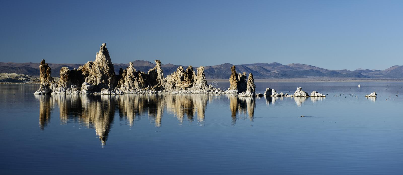 莫诺湖凝灰岩 库存照片