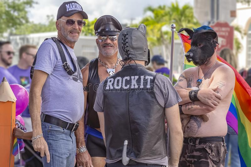 莱克沃思,佛罗里达,美国2019年3月31日以前,棕榈滩骄傲游行 库存照片