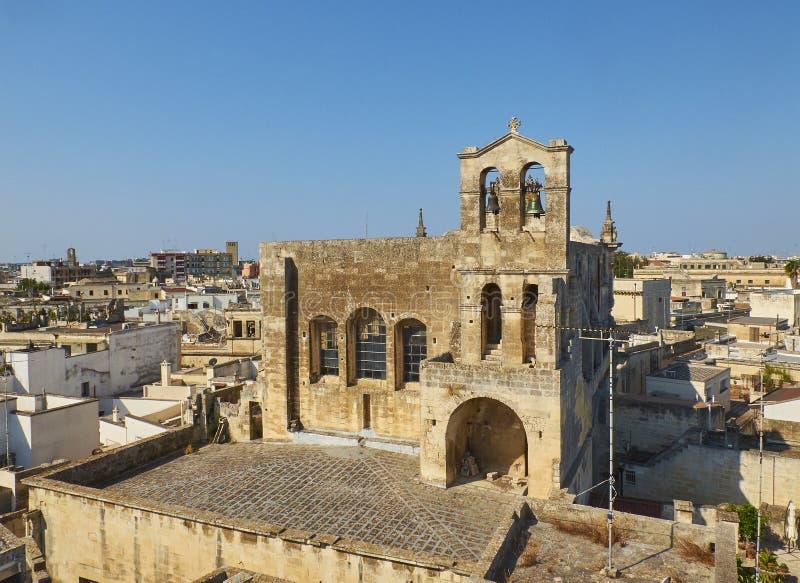 莱切Parrocchia圣马泰奥教会  普利亚,意大利 库存图片