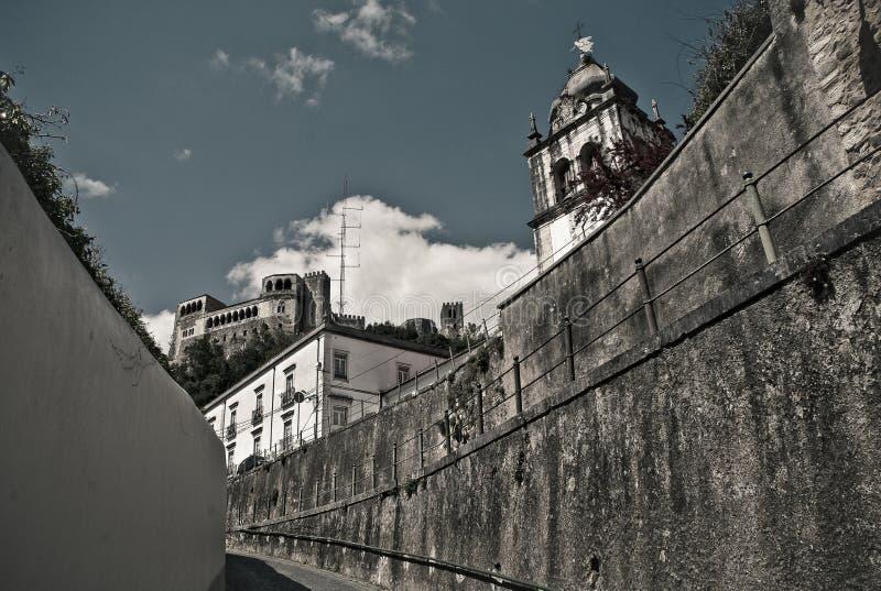 莱利亚,葡萄牙城堡  免版税库存照片