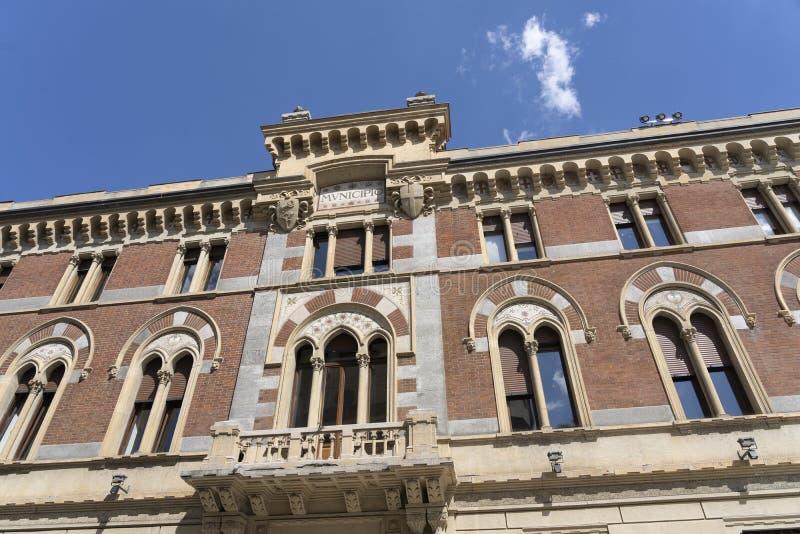 莱尼亚诺,意大利:Malinverni宫殿 免版税图库摄影
