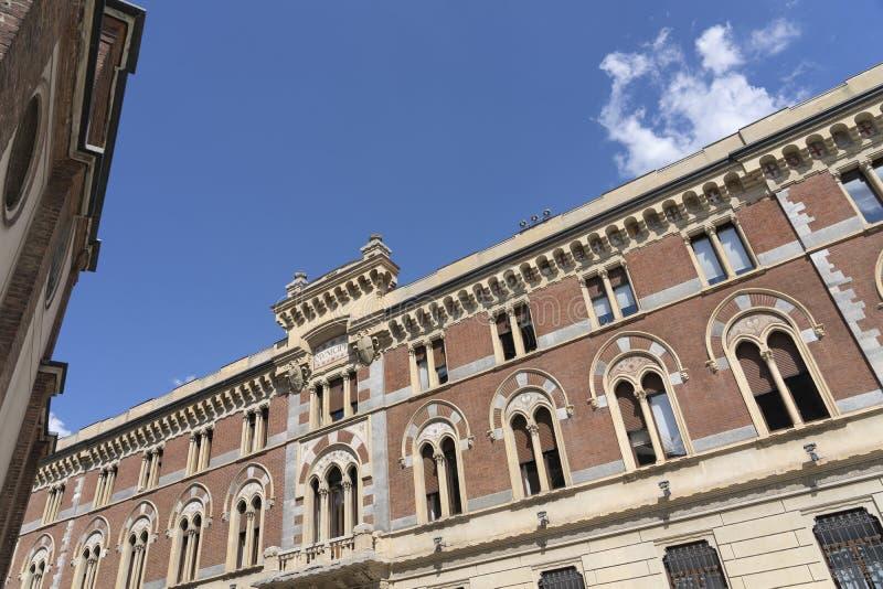 莱尼亚诺,意大利:Malinverni宫殿 库存照片