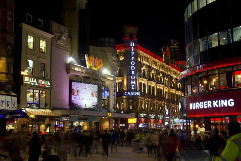 莱斯特广场在伦敦,英国 免版税库存图片