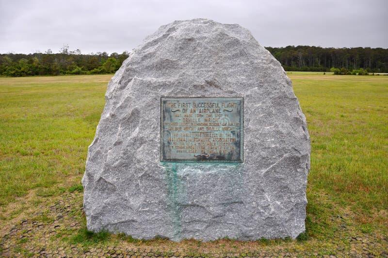 莱特兄弟全国纪念品, NC,美国 免版税库存图片