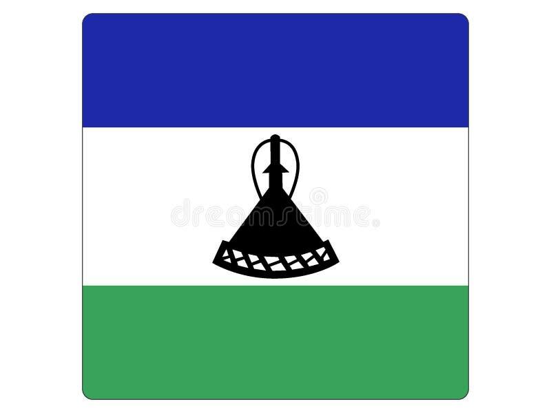 莱索托的方形的旗子 皇族释放例证