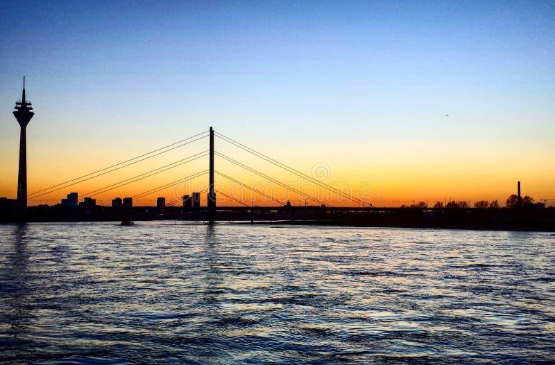 莱茵河桥梁 免版税库存图片