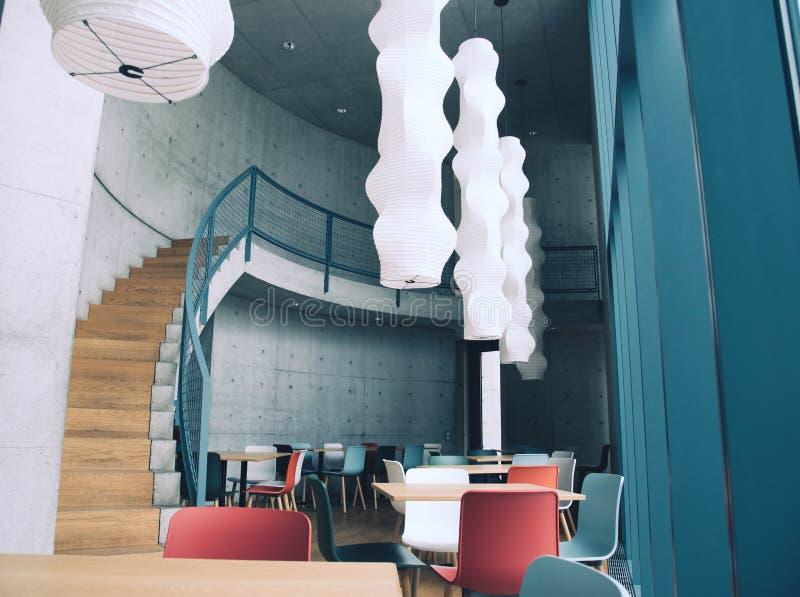 莱茵河畔魏尔,德国- 2018年4月:安藤忠雄大厦 免版税图库摄影