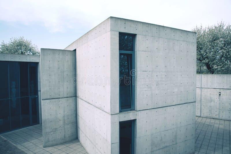 莱茵河畔魏尔,德国- 2018年4月:安藤忠雄大厦 库存图片