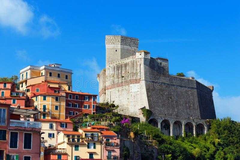 莱里奇-利古里亚意大利的城堡 库存照片