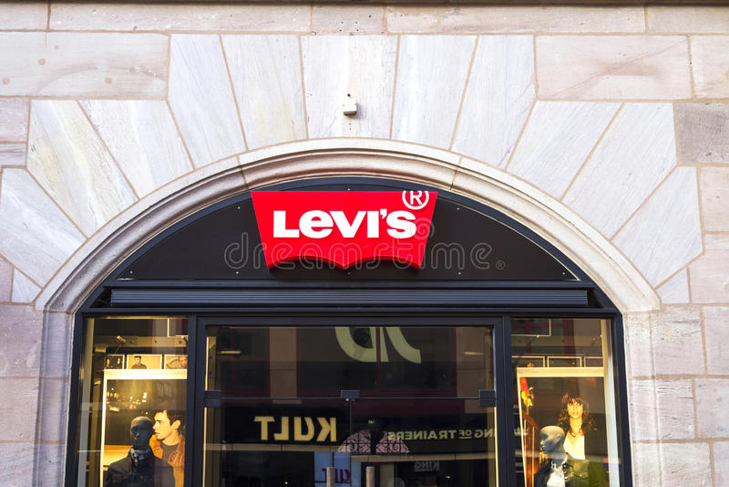 莱维` s出口 免版税图库摄影