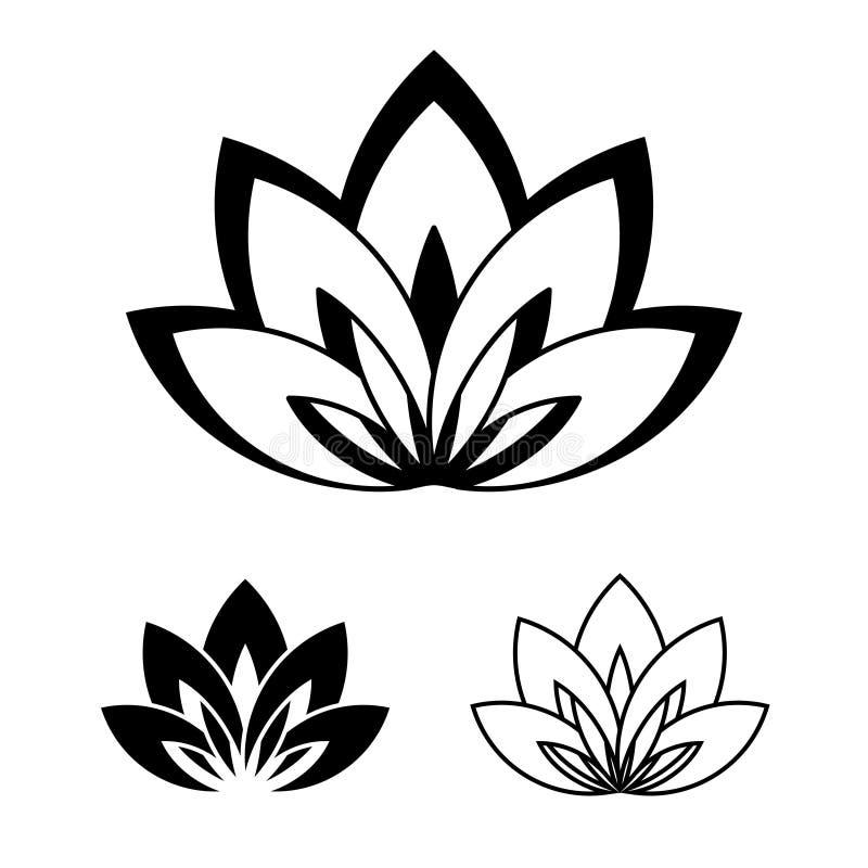 瑜伽的标志的莲花 导航瑜伽事件的例证,学校,俱乐部,网,温泉,纹身花刺