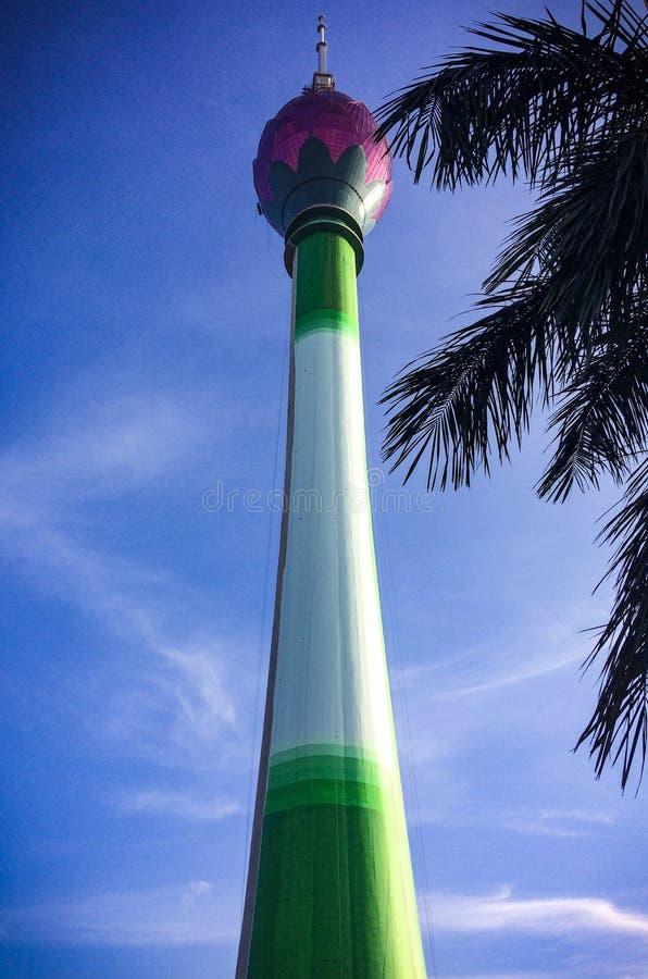莲花塔斯里兰卡,高楼在亚洲 免版税库存图片