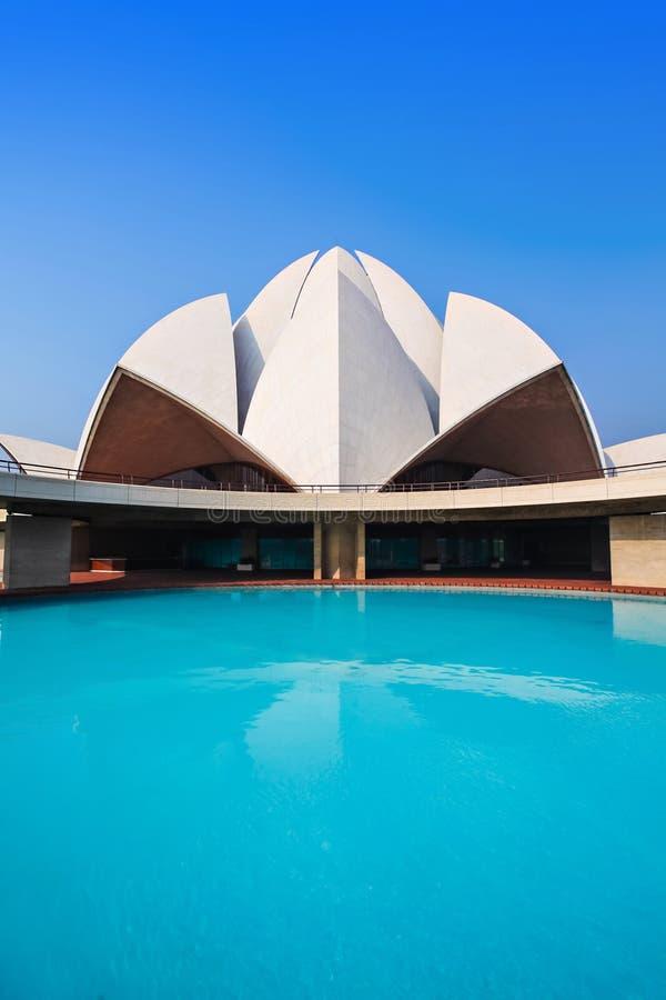 莲花寺庙,印度 免版税图库摄影
