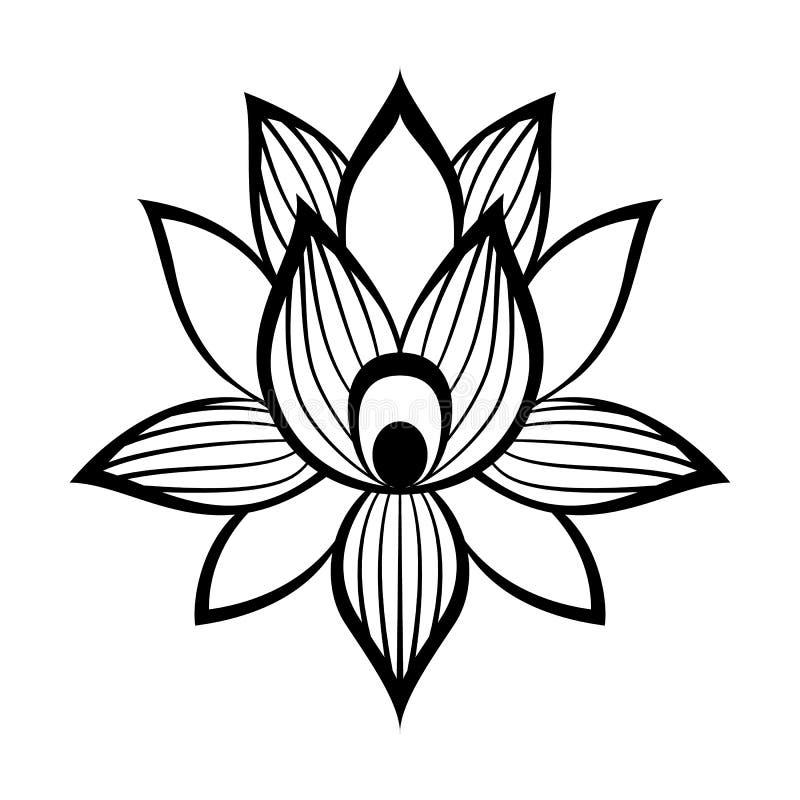 莲花标志 皇族释放例证