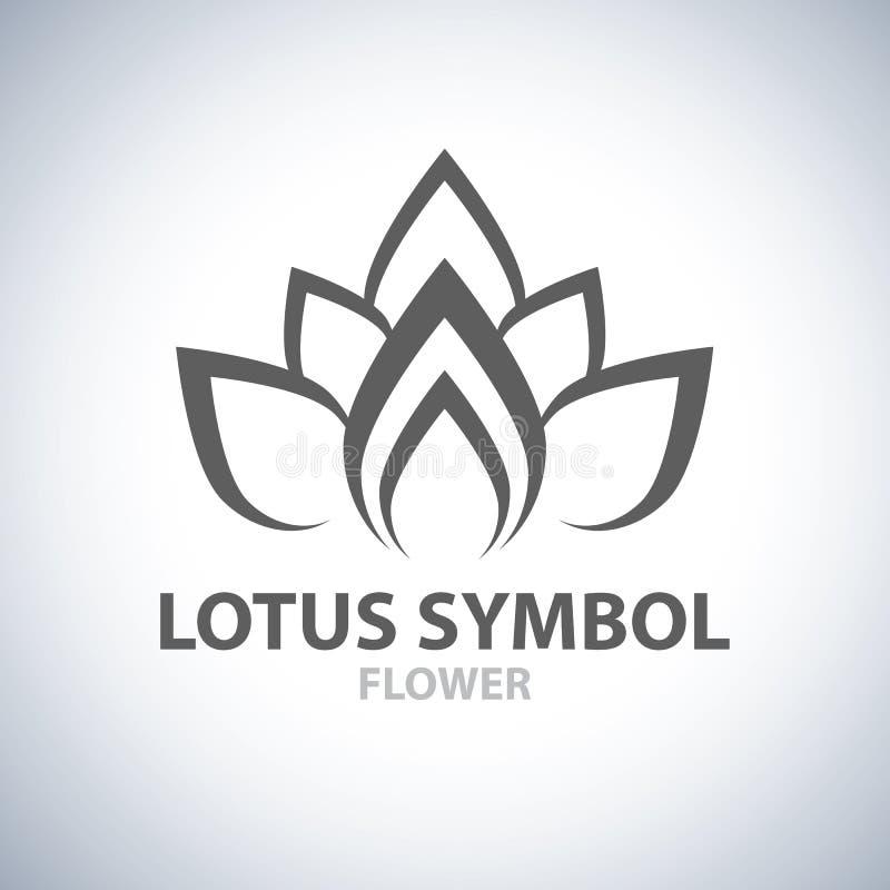 莲花标志 向量例证