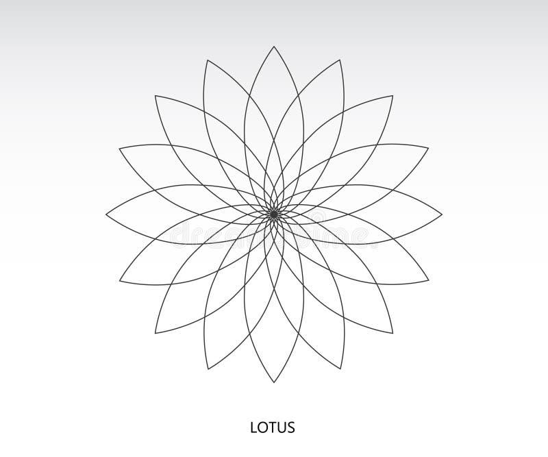 莲花神圣的几何 库存例证