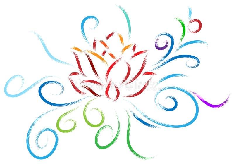 莲花设计 皇族释放例证