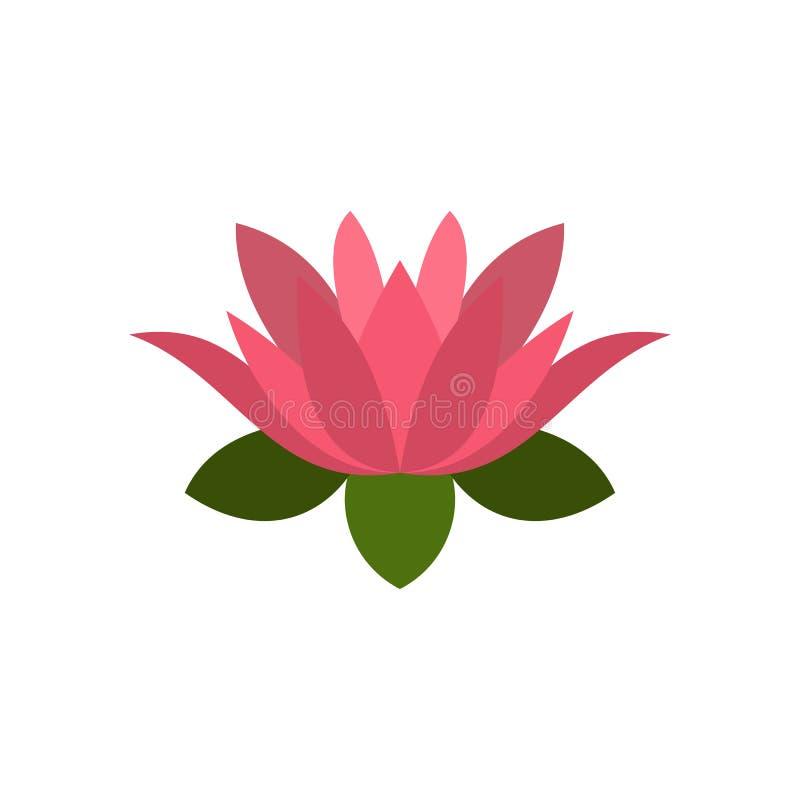 莲花象,平的样式 皇族释放例证