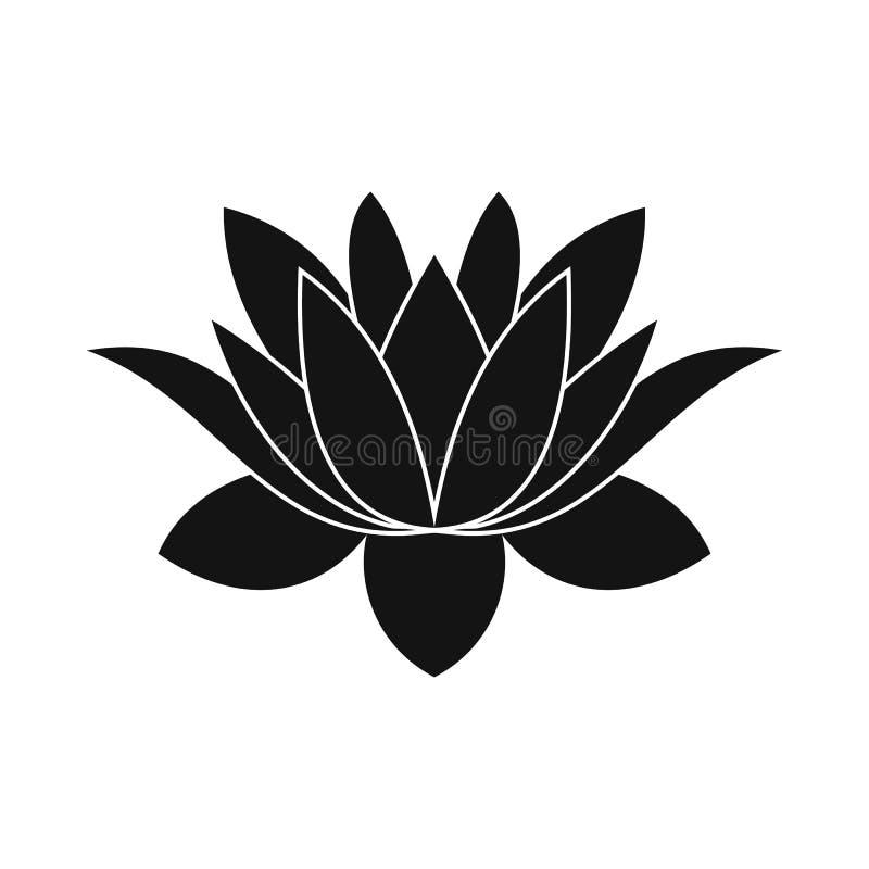 莲花象,简单的样式 向量例证