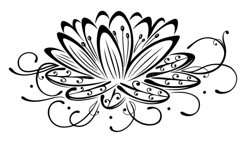 莲花,花 皇族释放例证