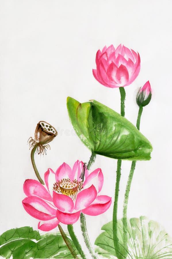 插画 包括有 华丽, 例证, 开花, 纸张, 墨水, 叶子, 绘画的技巧图片