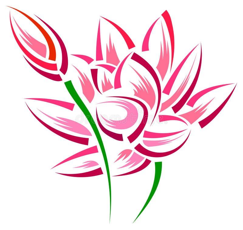 莲花 向量例证