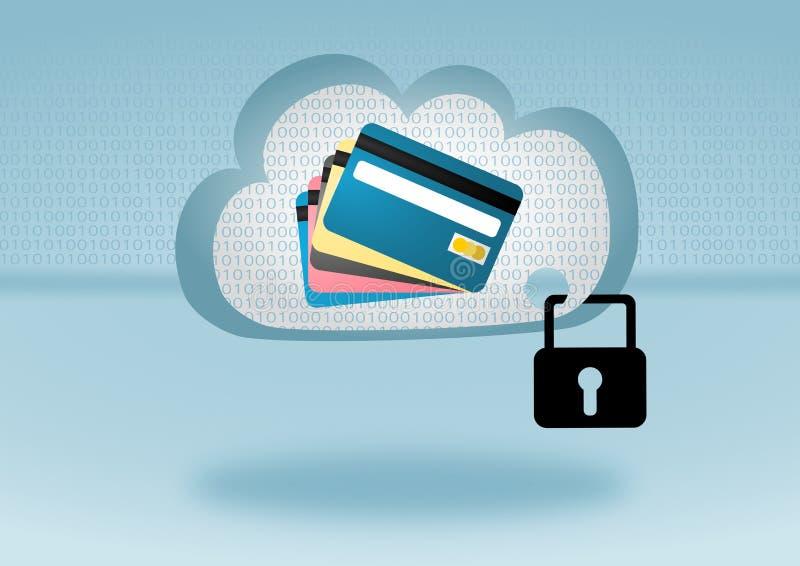 获取在云彩计算的例证的流动付款 向量例证