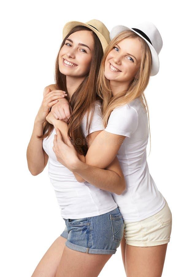 获得两个妇女的朋友乐趣。 库存图片