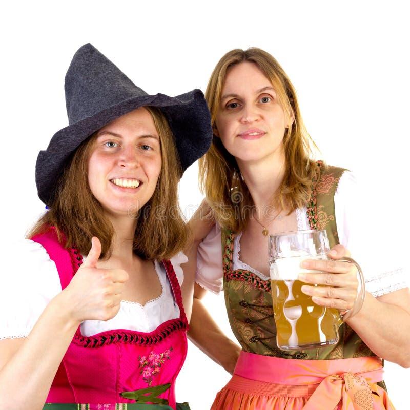 获得乐趣在慕尼黑啤酒节 免版税库存照片