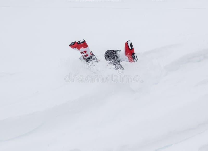 获得乐趣在雪 免版税库存图片