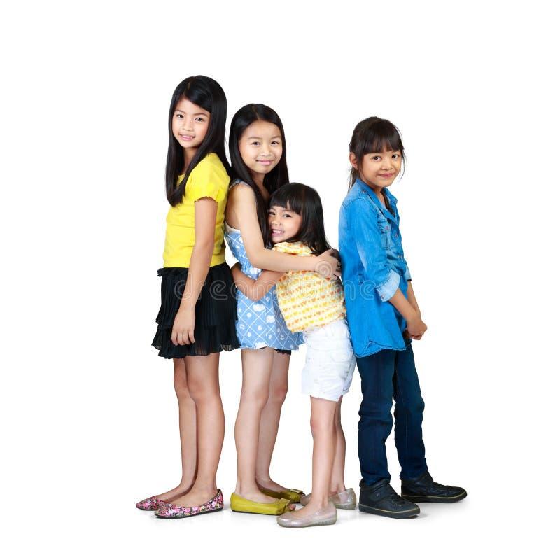 获得可爱的孩子乐趣一起 图库摄影