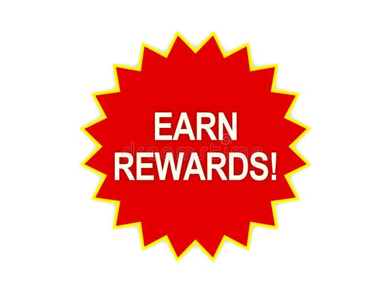 获得在红色星形的奖励消息 库存例证