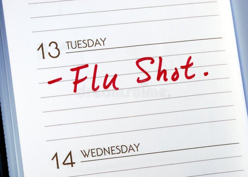 获得流感预防针 库存图片