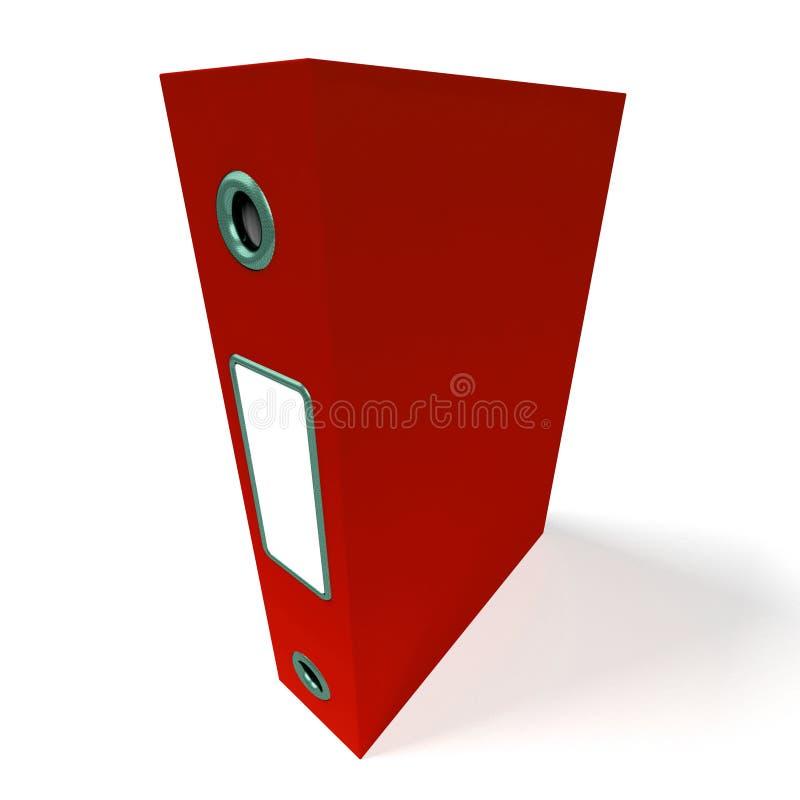 获得的办公室红色文件被组织 向量例证